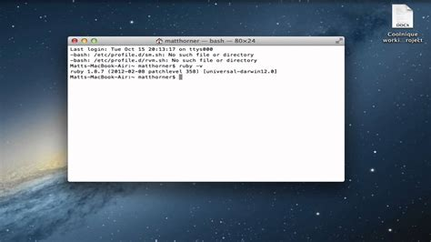 how to upgrade ruby os x how to install ruby on apple mac os x hd guide tutorial