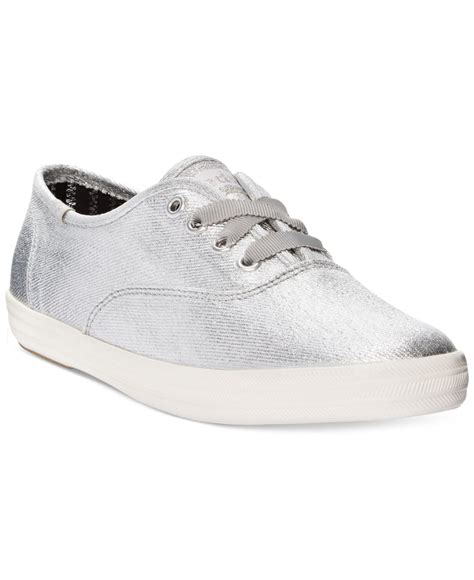 s keds sneakers keds s chion metallic oxford sneakers in metallic