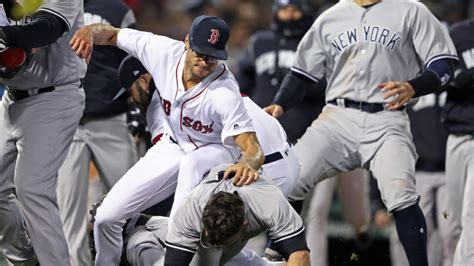 yankees red sox benches clear benches clear in red sox yankees game
