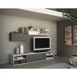 banc tv et rangement mural design zen achat vente