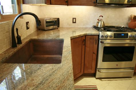 Dark Kitchen Cabinets With Backsplash by Copper In The Kitchen Flagstaff Design Center