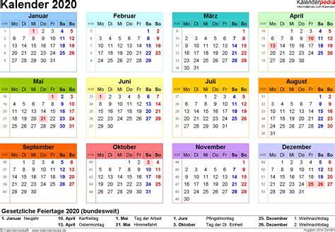 Steinger Jahreskalender Kalender 2020 Zum Ausdrucken Als Pdf 16 Vorlagen Kostenlos