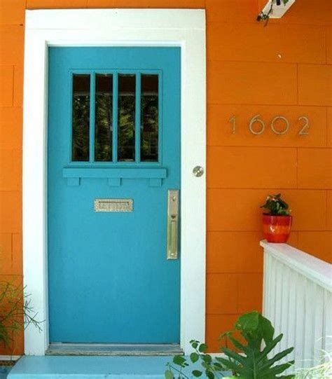 blue house orange door 17 best images about house paint on pinterest home blue