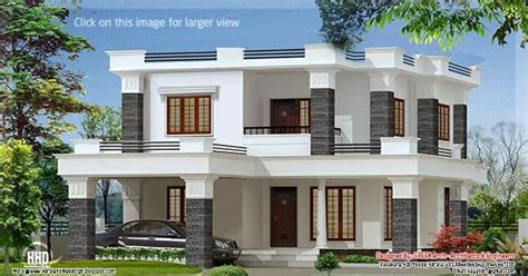 best 2 story 4 bedroom designs for low cost housing 2000 sq 4 bedroom flat roof villa kerala home