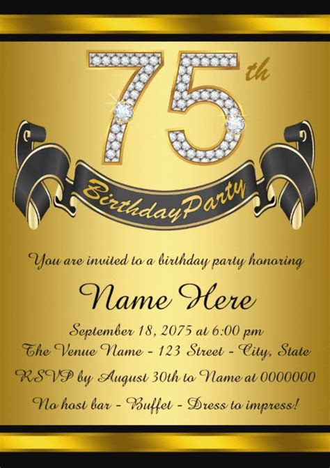 Th Birthday Invitations Th Birthday Ideas Th