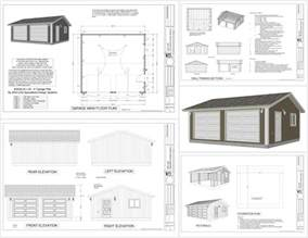 Plans For A 25 By 25 Foot Two Story Garage by Garage Plans Sds Plans