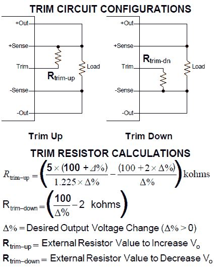 resistor voltage output 60watt dc dc 36vdc to 5v 12a isolated converter half brick module mounted on a circuit board