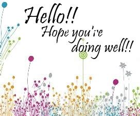 hello hope you are doing well