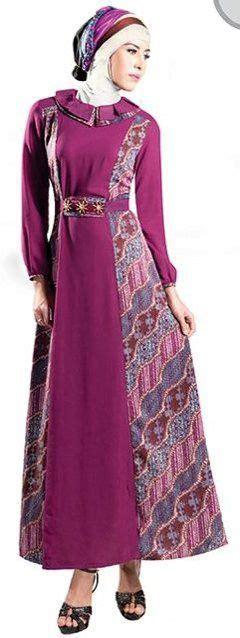 Gamis Muslimah 340 28 model baju gamis batik kombinasi terbaru trend baju