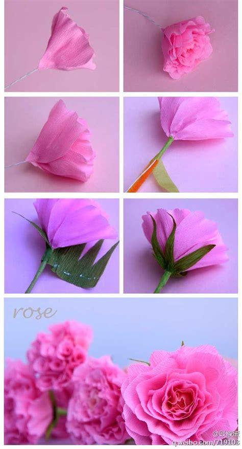 imagenes flores simples como fazer flor rosa de papel crepom decoracao casamento