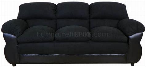 black fabric sofa sets black fabric and vinyl modern loveseat sofa set w options