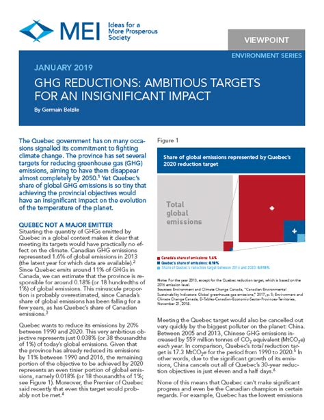 ghg reductions ambitious targets   insignificant