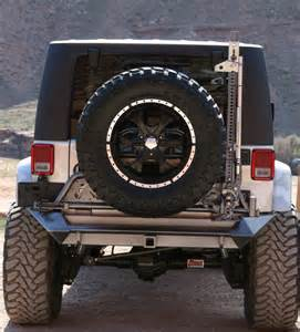 rh 5001 jeep wrangler jk rear bumper with tire carrier