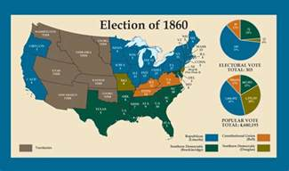 us map of the election of 1860 results 187 the election of 1860