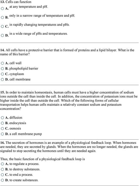 cell structure  function worksheet answer key