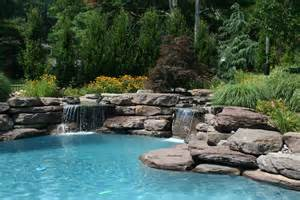 Backyard Ponds And Waterfalls by Rectangular Swimming Pools Vs Lagoon Style Pools
