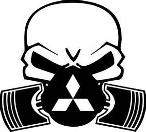 Mitsubishi Logo Decal Mitsubishi Piston Gas Mask Skull Decal Sticker 06