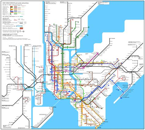 ny city subway map metro new york map