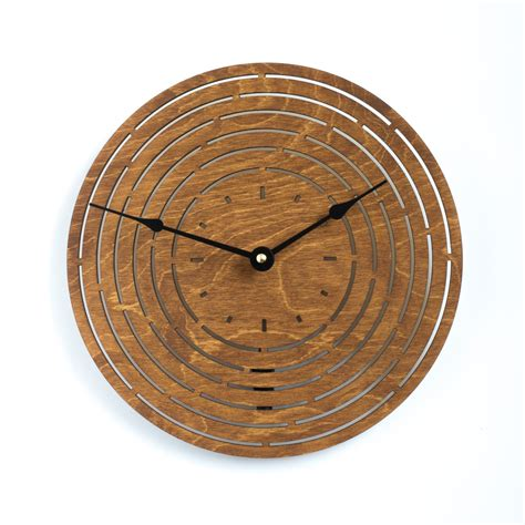 wood clock modern geometry wood clock oak large wooden wall clock