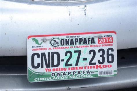 placas por primera vez cd jurez 2016 anuncia onappafa venta de permisos para autos quot chocolate