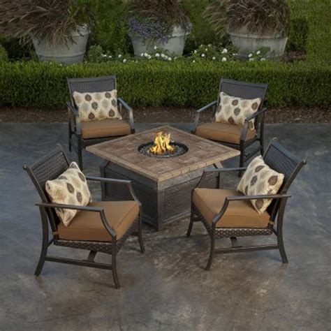 firepit set pit table and chairs pit design ideas