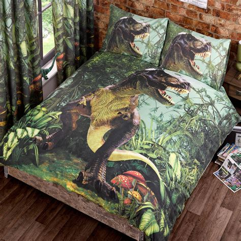 Dinosaur Quilt Cover by T Rex Dinosaur Jurassic Jungle Bedroom Range Single