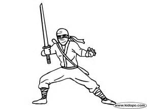 Super Ninjas Colouring Pages sketch template