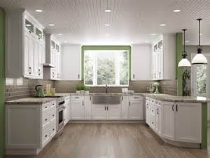 Transitional Kitchen Cabinet Hardware - frosted white shaker kitchen cabinets rta cabinet store