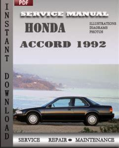 service manual car owners manuals free downloads 1992 dodge ram wagon b350 engine control honda accord 1992 service manual download repair service manual pdf
