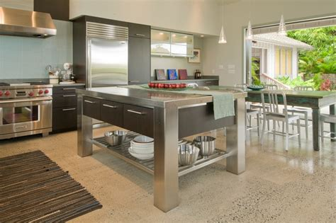 10 beautiful stainless steel kitchen island designs great terrazzo tile decorating ideas