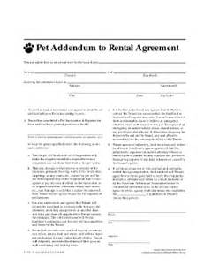 Apartment Lease Pets Pet Agreement Fill Printable Fillable Blank
