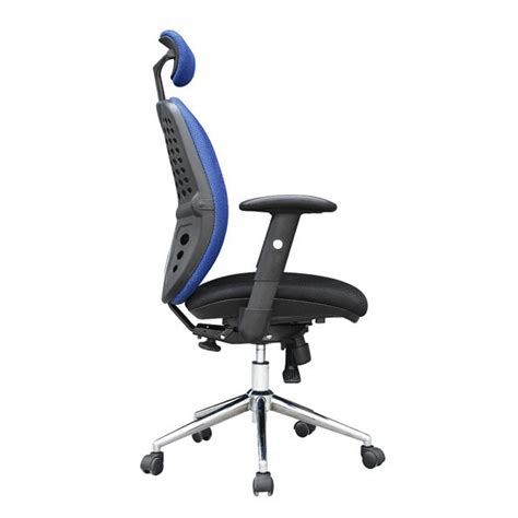 Office Chair Headrest Extension by High Back Mesh Chair Docklands Office Furniture