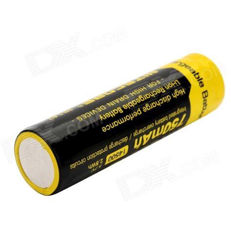 Nitecore 14500 Baterai Li Ion 850mah 3 7v Nl1485 nitecore oplaadbare li ion 3 7v 750mah 14500 batterij zwart geel gratis verzending