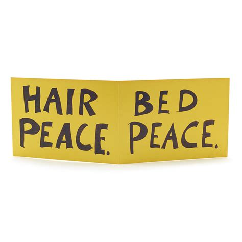 bed peace bed peace hair peace greeting card