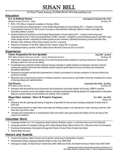 science resume exles political science resume sle http resumesdesign