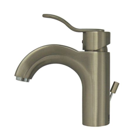 single hole bathroom faucet brushed nickel vigo single hole 1 handle bathroom faucet in brushed nickel vg01015bn the home depot