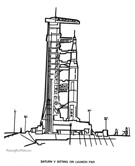 Saturn V Coloring Page by Apollo Rocket Coloring Sheets Page 4 Pics About Space