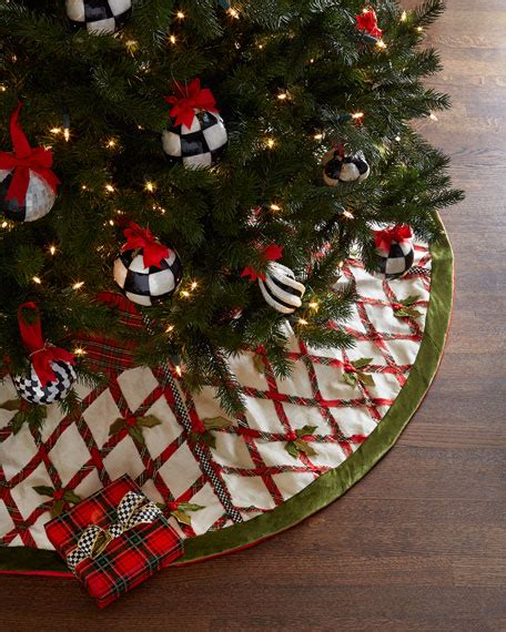 mackenzie childs tartan yuletide christmas tree skirt