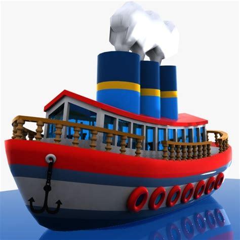 cartoon boat 3d model 3d cartoon ship toon
