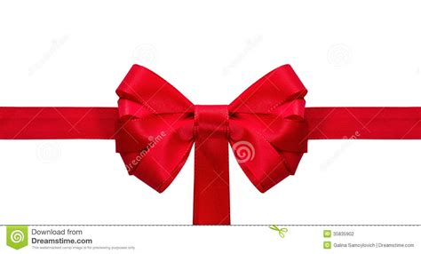 festive red bow stock photography image 35835902