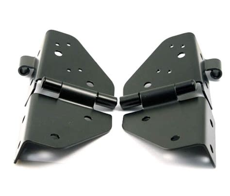 jeep yj windshield hinges all things jeep windshield hinges by smittybilt in black