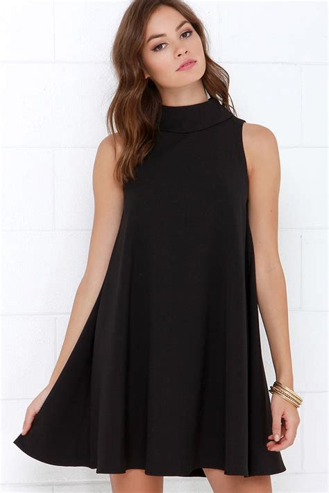 swing dresses chic black dress swing dress sleeveless dress 66 00