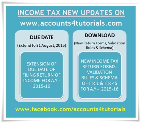 2015 income tax filing due date for filing income tax returns extend new itr 1