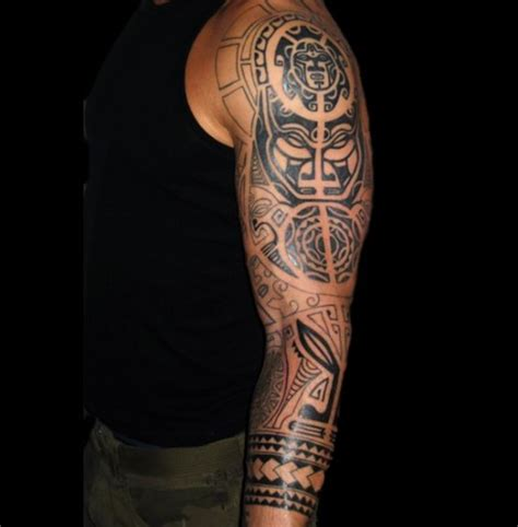 amazing sleeve tribal tattoos idea for men tattoos for men