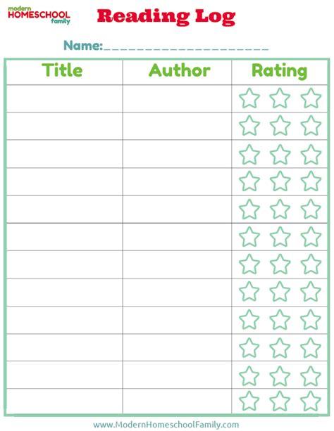 printable pre k reading log free printable reading log for kids