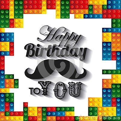 happy birthday lego design lego frame icon happy birthday design vector graphic
