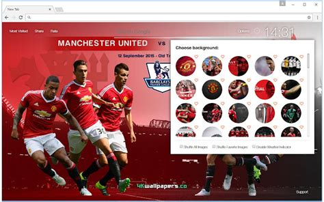 theme chrome manchester united manchester united fc hd football wallpapers chrome web store