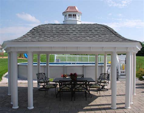gazebo cupola vinyl roof elongated hexagon gazebos gazebos by