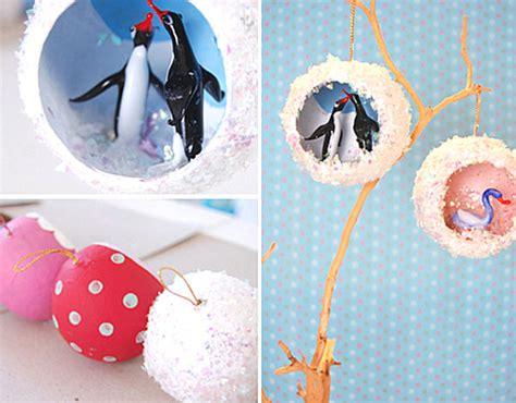 Diorama Ornaments - 12 diy ornaments for a festive tree