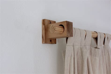 drapery holders curtain holders curtain rod holders modern wood brackets